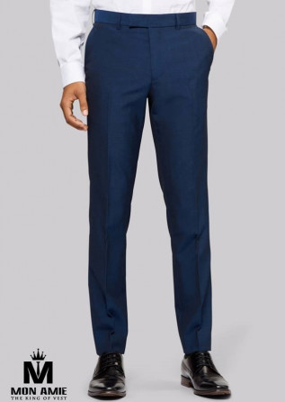 Men Regular Trouser in Blue
